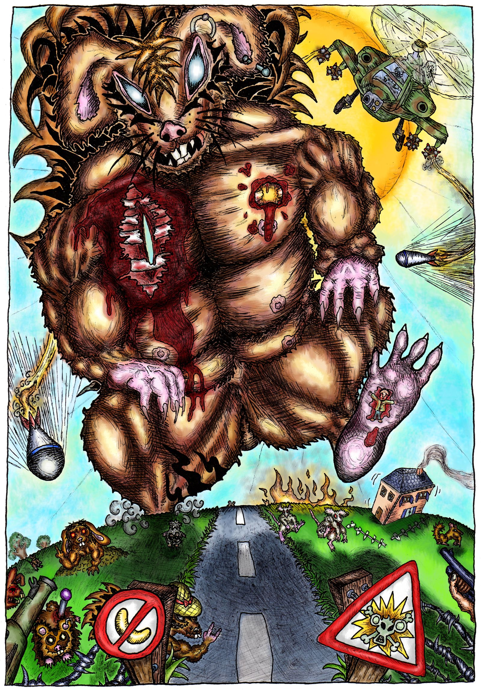 Un écureuil mutant géant que vous ne verrez même pas dans la BD, c'est juste décoratif !!!