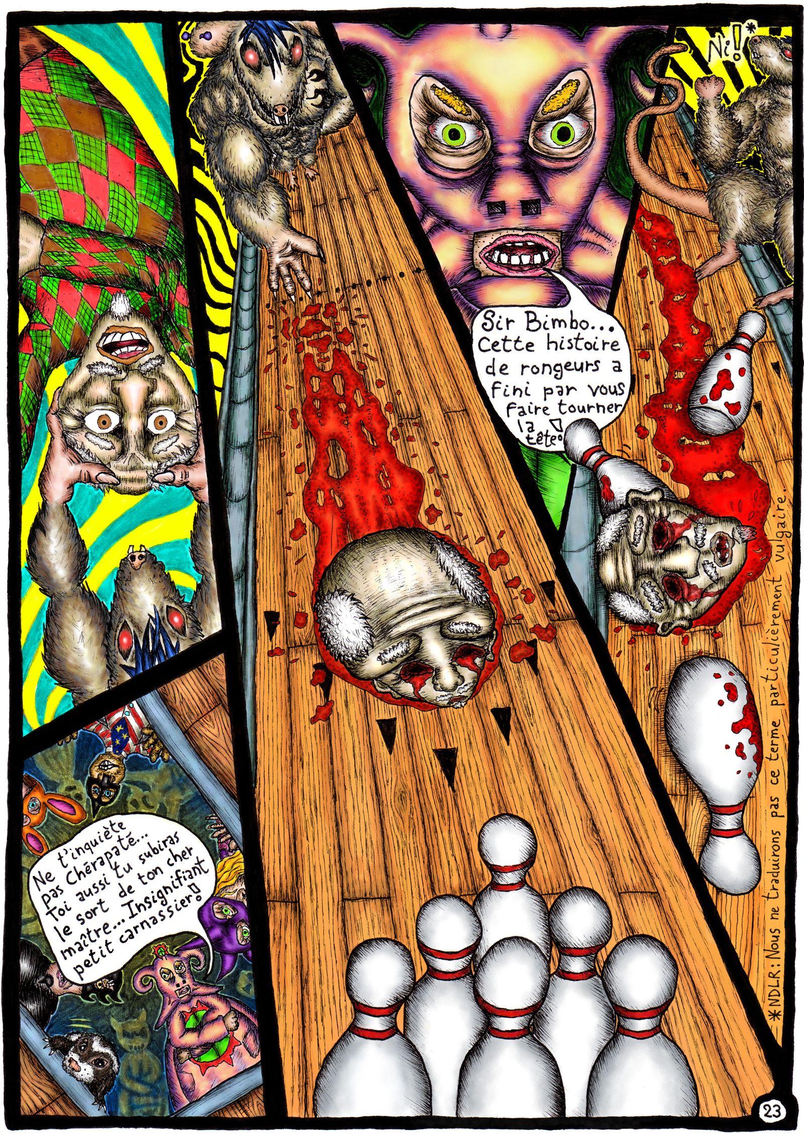 Bowling chez les rats mutants zombies