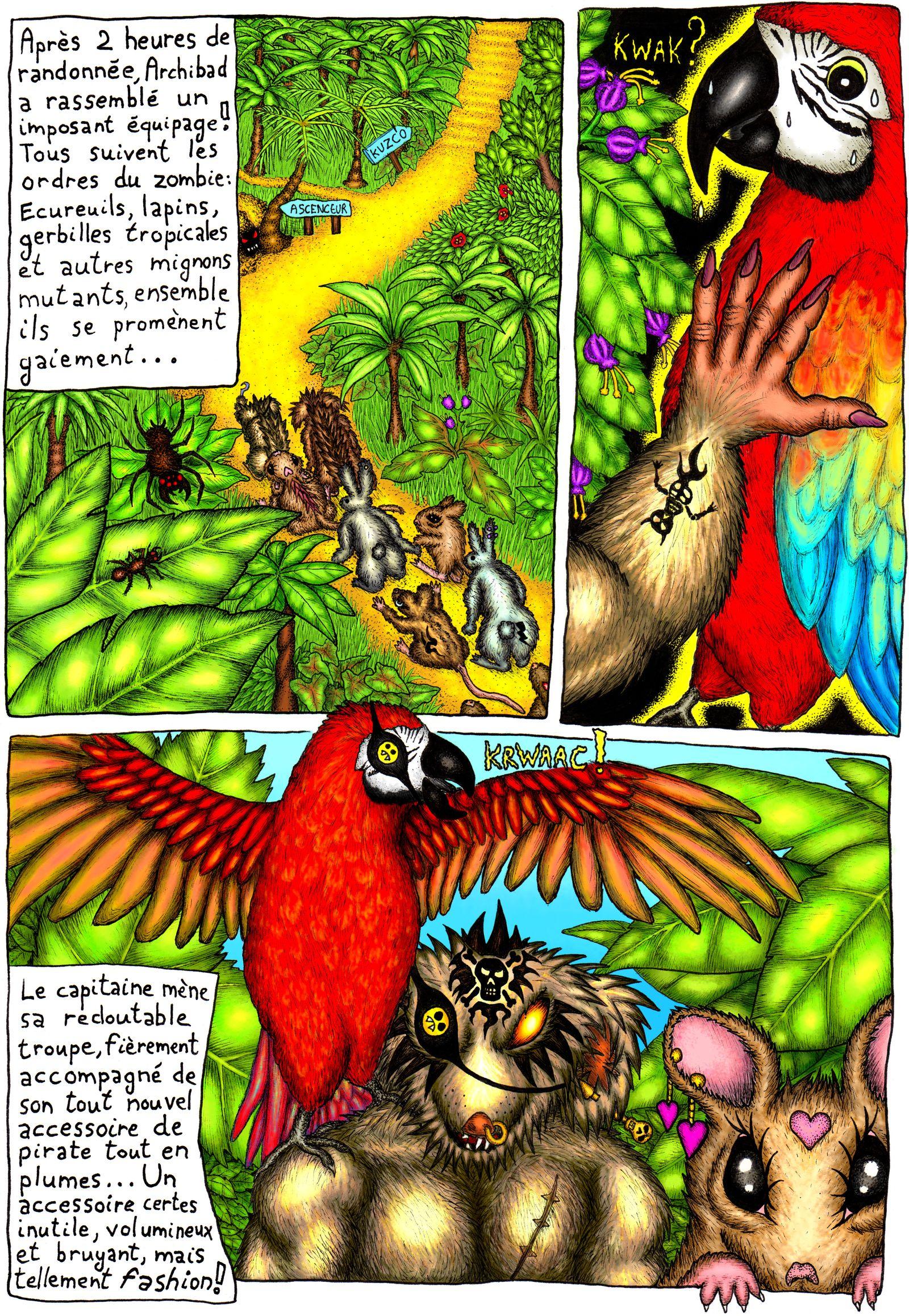 Perroquet sur écureuil pirate mutant zombie, un classique