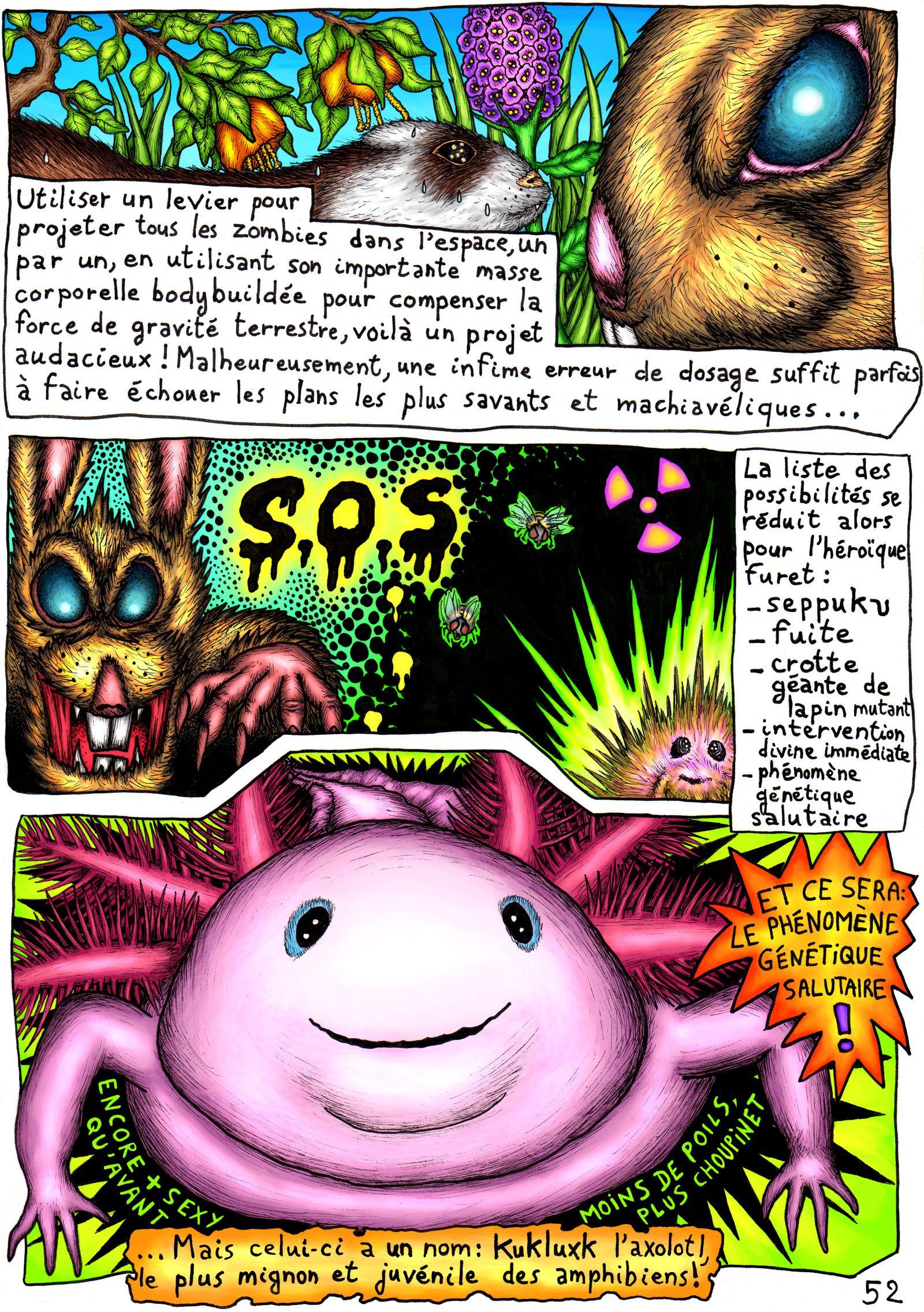Kukluxk, la mutation du rongeur à l'axolotl