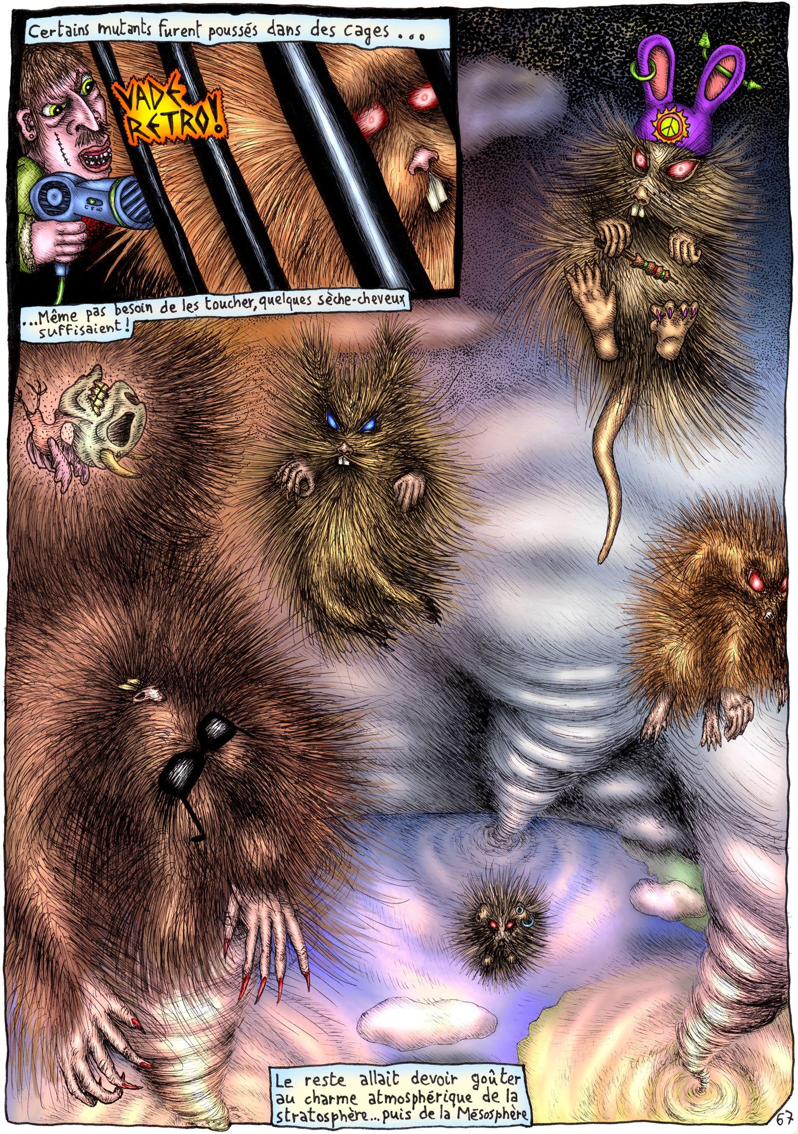Le voyage des rongeurs mutants zombies vers l'espace