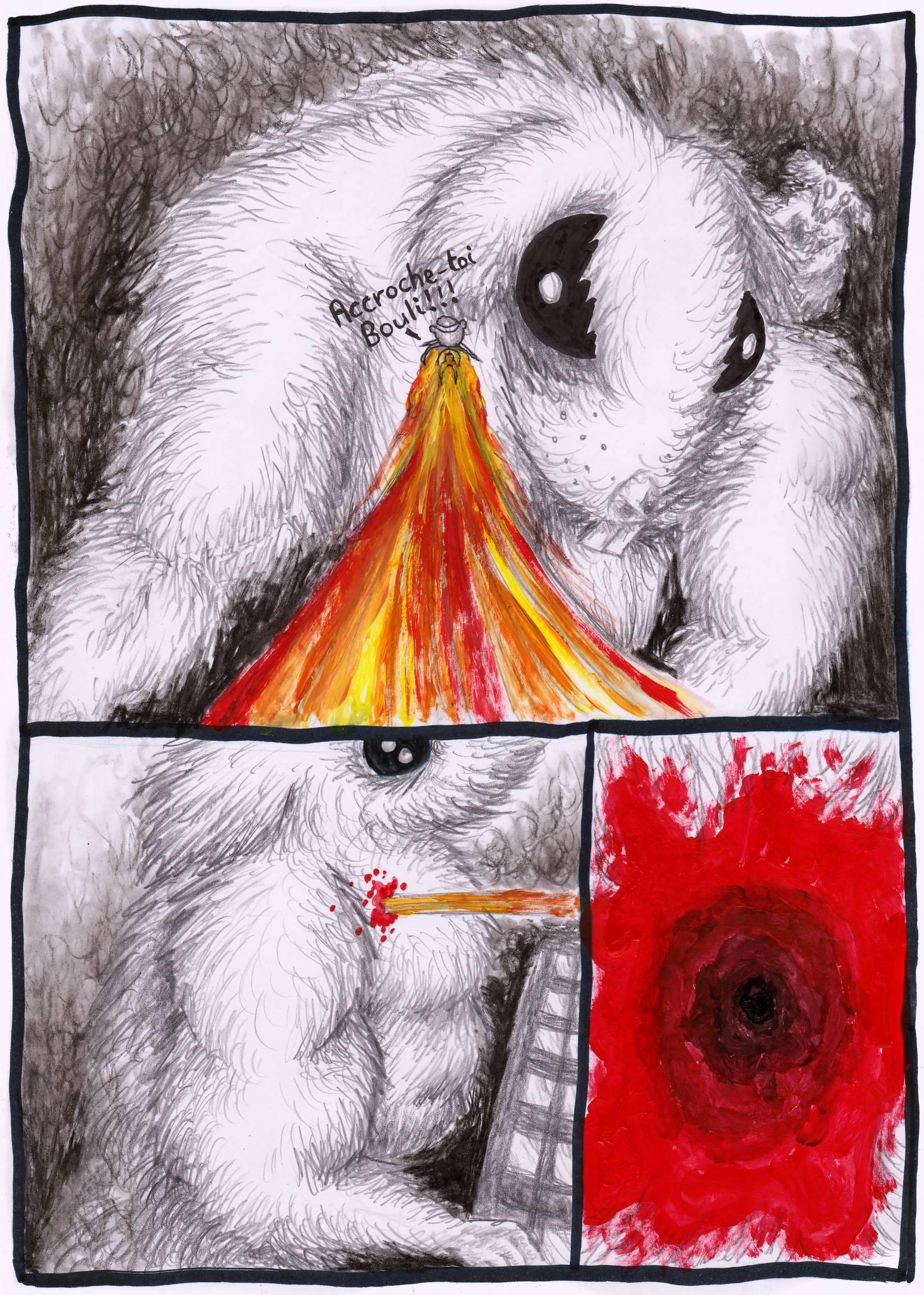 Une balle dans le bras d'une gerbille