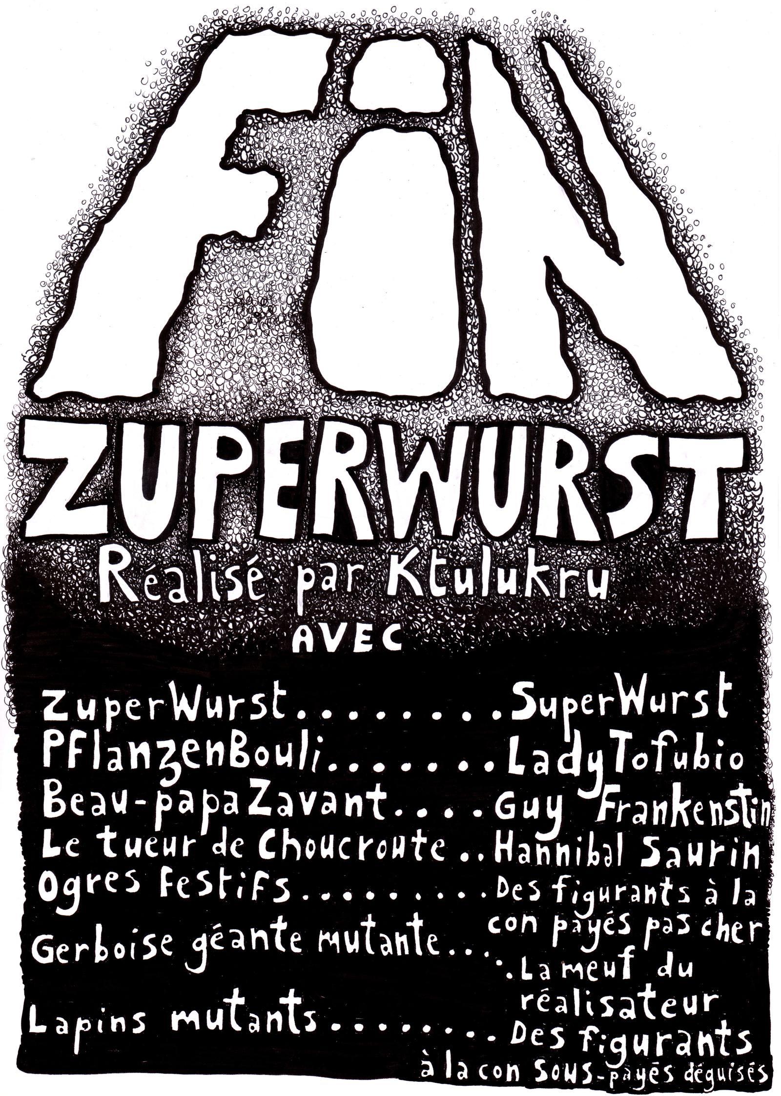 L'écran de fin de ZuperWurst